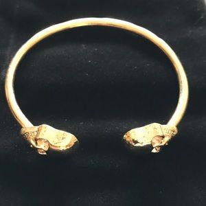 Jewelry - NEW Skull Bangle Bracelet Gold